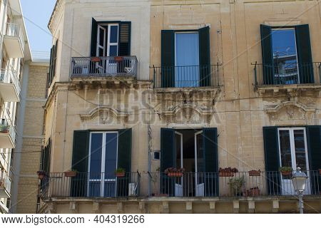 Lecce Italy, Typical Italian City Apartment In A Historic House.