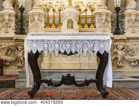 Basilica Di Santa Croce Is A Baroque Church In Lecce, Apulia, Italy, Completed In 1695.