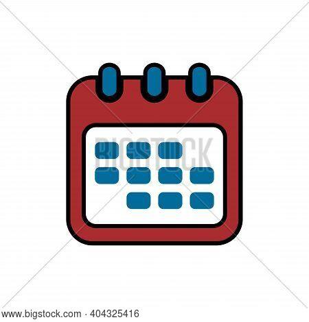 Calendar Icon Isolated On White Background, Calendar Icon Vector Flat Modern, Calendar Icon, Calenda
