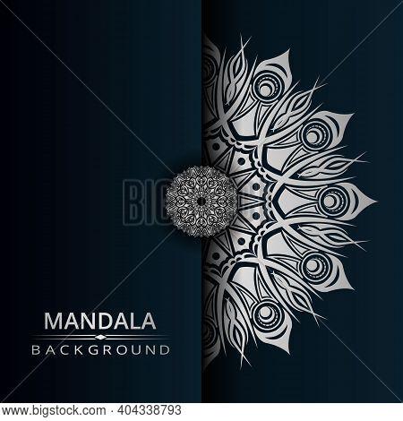 Luxury Mandala Vector Background With Silver Arabesque Style