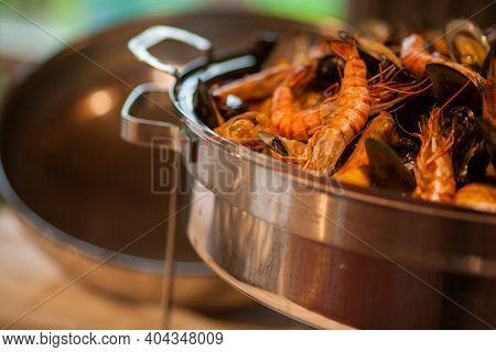 Red Shrimps Gourmet Wild Ocean Jumbo Shrimps. High Quality Photo