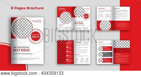 Business Bi Fold Brochure Template, Corporate Bi-fold Brochure Template