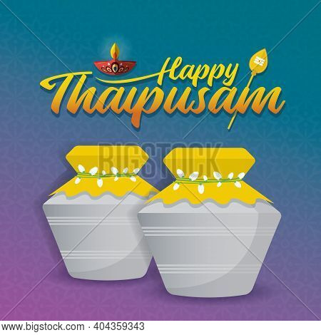 Thaipusam Or Thaipoosam - A Festival Celebrated By The Tamil Community. Paal Kudam (milk Pot Offerin