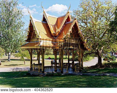 Lisbon, Portugal - October 01, 2019: Thai Pavilion Or Sala Thai Is In Belem District, Lisbon, Portug