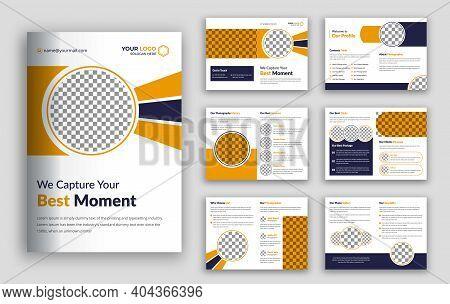 Photography Brochure Vector Design Template, Photography Bi Fold Brochure Design Template