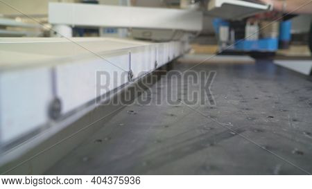 Cnc Woodworking Wood Processing Machine, Modern Technology In The Industry. Cnc Wood Cutting Machine
