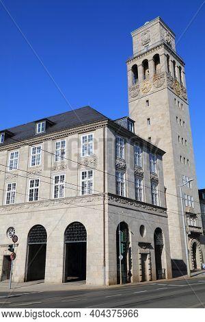 Mulheim An Der Ruhr City In Germany. City Hall (rathaus).