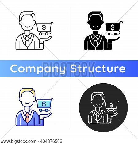 Purchasing Department Icon. Responsibility For Buying Goods, Products. Inventory Management. Identif