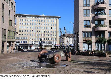 Muelheim A.d. Ruhr, Germany - September 21, 2020: City View Near Delle Street In Muelheim An Der Ruh