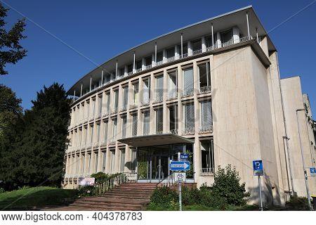 Muelheim A.d. Ruhr, Germany - September 21, 2020: Gesellschaft Fur Stromwirtschaft (society For Elec