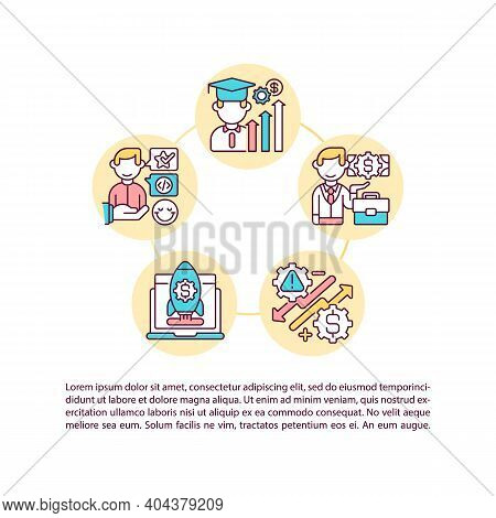 Successful Game Design Alumni Concept Icon With Text. Career Path. Professional Skills. Employment P