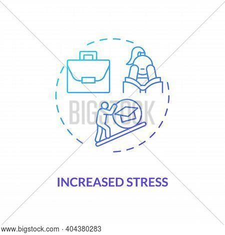 Increased Stress Concept Icon. Staff Training Disadvantage Idea Thin Line Illustration. Cognitive Di