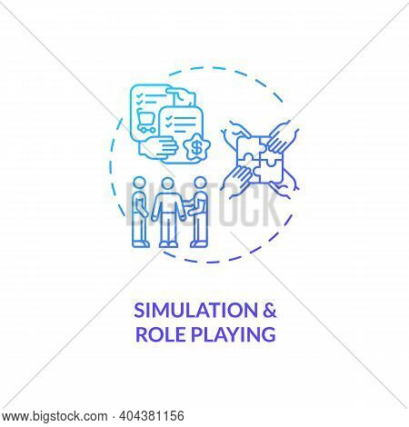 Simulation And Role Playing Concept Icon. Staff Training Idea Thin Line Illustration. Experiential L