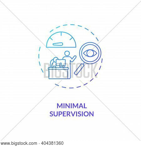 Minimal Supervision Concept Icon. Staff Training Idea Thin Line Illustration. Ability Handling Diffe