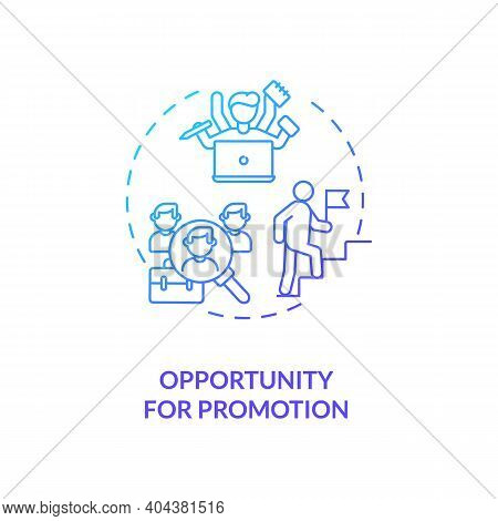 Opportunity For Promotion Concept Icon. Employee Position Advancement Idea Thin Line Illustration. R