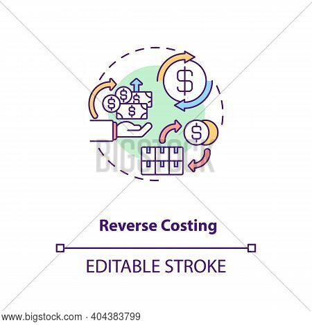 Cost Reduction Concept Icon. Cost Reduction Strategies Idea Thin Line Illustration. Business Process