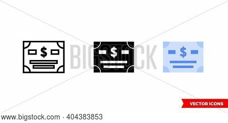 Bonds Icon Of 3 Types Color, Black And White, Outline.isolated Vector Sign Symbol.