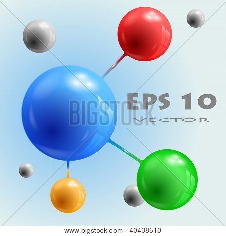 3d spheres connected