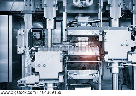 Industrial Line For Packaging Of Bakery Products. Packing Of Bread At The Factory.the Machine For Cu
