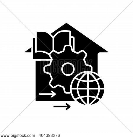 Adapt Teaching Methods Glyph Icon. Training Process Management. Home Education Concept. Distant Remo