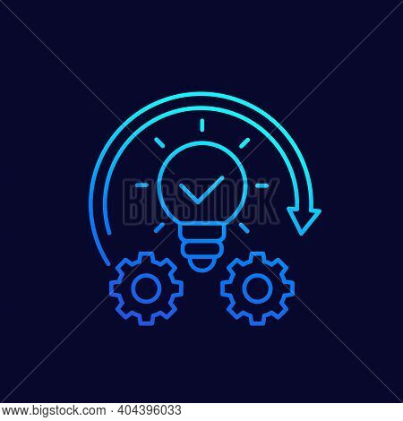 Implementation Or Idea Execution Line Vector Icon