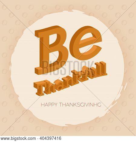 Be Thankfull Thanksgivig Day Autumn Food Icon- Vector