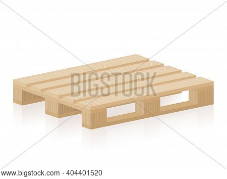 Wooden Pallet Or Skid For Transport, Packaging, Industry, Freight, Storage. Brand New, Undamaged, In