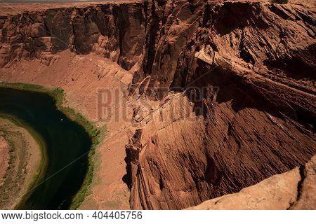 Colorado River In Grand Canyon. Canyon In Glen Canyon National Recreation Area