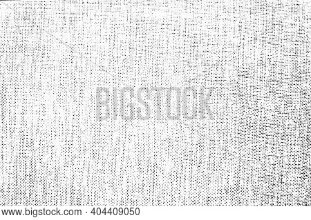 Distress Thread Used Texture. Grunge Rough Dirty Background. Shabby Black Cotton Cover. Overlay Aged