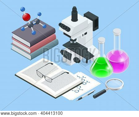 Isometric Analysis Lab, Chemical Laboratory Science. Research Teams In Chemistry Experiments, Health