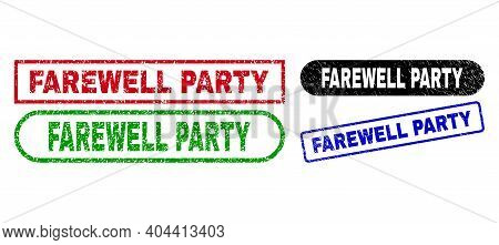 Farewell Party Grunge Seal Stamps. Flat Vector Grunge Seal Stamps With Farewell Party Phrase Inside