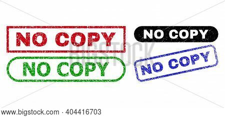 No Copy Grunge Watermarks. Flat Vector Grunge Watermarks With No Copy Slogan Inside Different Rectan