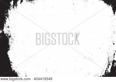 Distressed Abstract Border Overlay Texture With Dark Corners. Grunge Creative Frame Cover Background