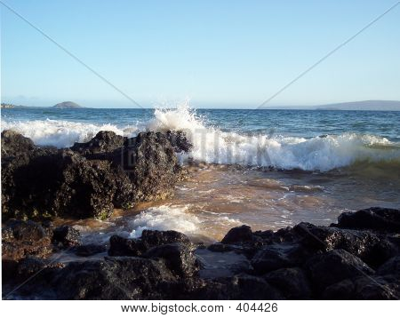 Lava Rock On Beach