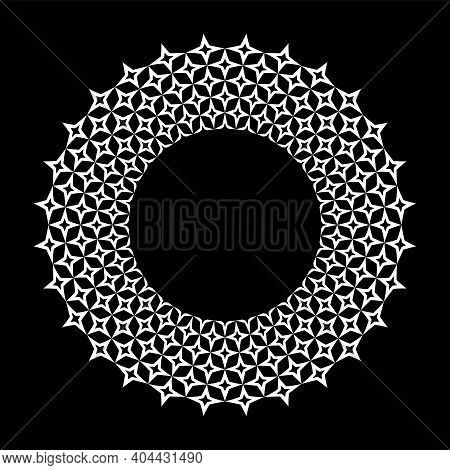 Abstract Decorative Circle Design Element For Frame. Vector Art.
