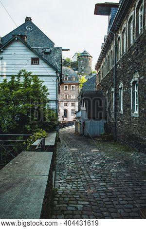 Monschau In Eifel Region. A Small Picturesque Town In Noth Rhine-westphalia, Germany