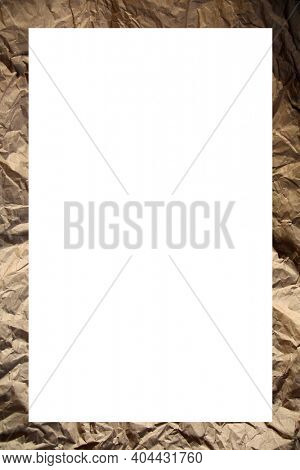 Picture Frame. Old Wrinkled Brown Construction Paper Picture Frame. Room for Text or Images. Picture Frames are enjoyed World Wide to hold Photos and Advertising Text. Room for Text or images.