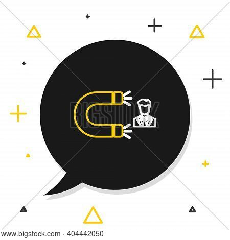 Line Customer Attracting Icon Isolated On White Background. Customer Retention, Support And Service.