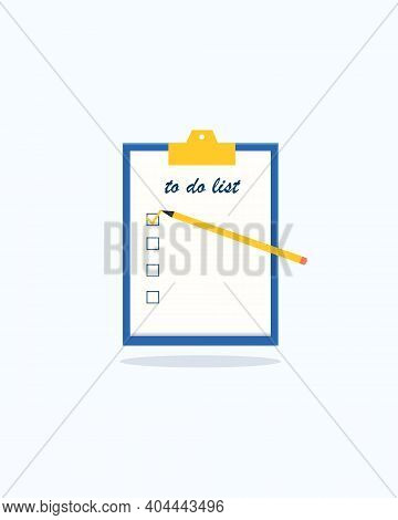 To Do List Or Planning Concept. Bucket List. Task Management. List Of Goals. Paper Sheets With Check