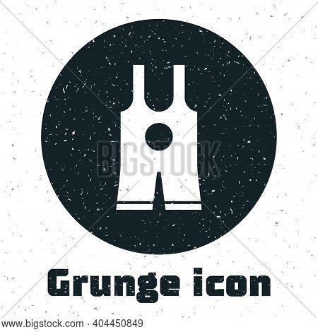 Grunge Wrestling Singlet Icon Isolated On White Background. Wrestling Tricot. Monochrome Vintage Dra