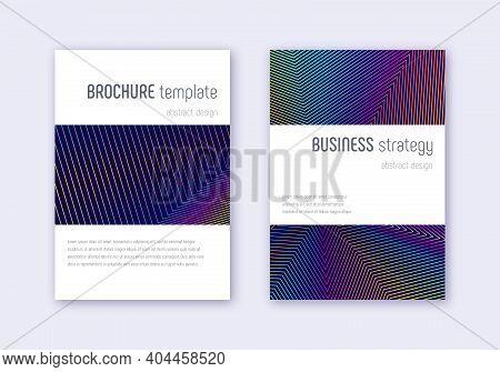 Minimalistic Cover Design Template Set. Rainbow Ab