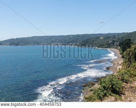 Beach Lovers (playa De Los Enamorados), Facing The Pacific Ocean From The Fort Of Niebla Village. Es