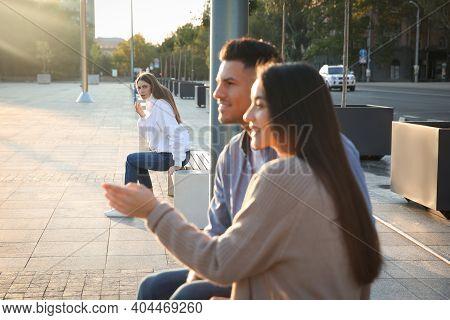 Jealous Ex Girlfriend Spying On Couple Outdoors