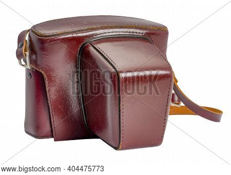 Nostalgic Camera Bag Isolated In White Back