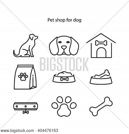 Pet Friendly Shop Line Icon. Store Welcomes Domestic Animals. Pet Store. Contemporary Pets Services.