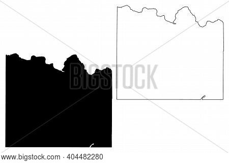 Lincoln County, State Of Washington (u.s. County, United States Of America, Usa, U.s., Us) Map Vecto