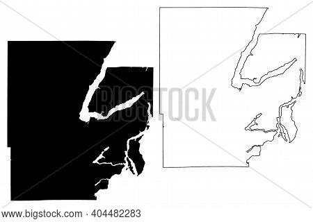 Mason County, State Of Washington (u.s. County, United States Of America, Usa, U.s., Us) Map Vector
