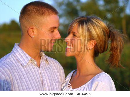 Couple In Loving Gaze