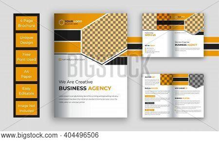 Business Bi Fold Brochure Template, Corporate Bi-fold Brochure Template
