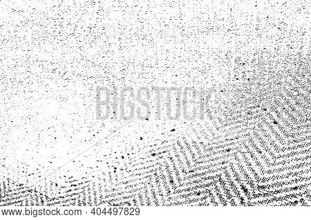 Distressed Grainy Thread Overlay Texture. Grunge Cloth Messy Background. Dirty Rough Empty Cover Tem